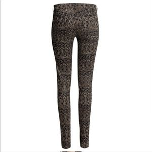 H&M Super-Stretch Geometric Tribal Print Pants